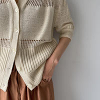 《予約販売》mulch mesh knit/2colors_nt0939