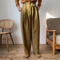《予約販売》tuck twill wide pants/2colors_np0328