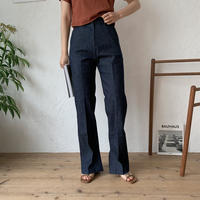 《予約販売》non wash slit long  jeans/2colors_np0191