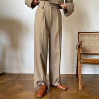 【nokcha original】straight long pants/beige_np0340