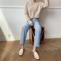 minimal knit cardigan/2colors