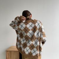 《予約販売》argyle over knit_nt1115