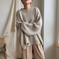 ✳︎予約販売✳︎ melange knit/beige_nt0297