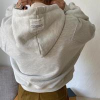 【nokcha original】label hood pullover/oatmeal_nt0724