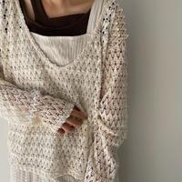 《予約販売》cache-coeur lady knit/2colors_nt0922