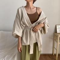 《予約販売》2way volume minimal gown/2colors_nt0453