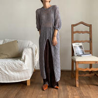 《予約販売》center slit mesh knit ops_nd0081