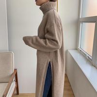 《予約販売》deep slit long knit/2colors_nt0792