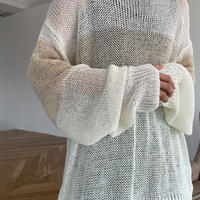 《予約販売》bi-color sheer knit/2colors_nt0902