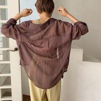 《予約販売》ennui sheer blouse/3colors_nt0451