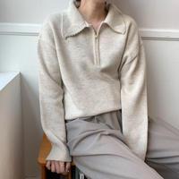 ✳︎予約販売✳︎collar knit/2colors