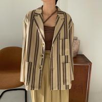 【nokcha original】multi stripe jacket_no0154