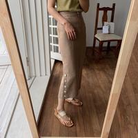 《予約販売》linen bottan skirt/2colors_ns0038