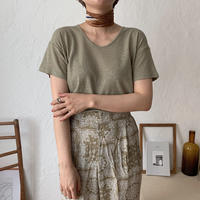 《予約販売》linen u neck tee/4color_nt0427