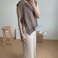 summer knit vest/2colors_nt0040