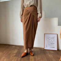 《予約販売》semi mat wrap skirt_ns0039