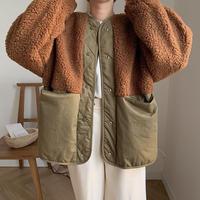 ✳︎予約販売✳︎bi-color boa jacket/2colors_no0040
