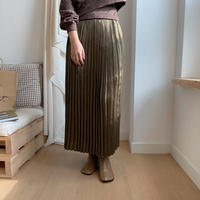 ✳︎予約販売✳︎shiny pleats skirt/2colors _ns0016