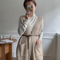 ✳︎予約販売✳︎ rib knit long vest_nt0129
