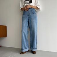《予約販売》pocket long  jeans_nj0034