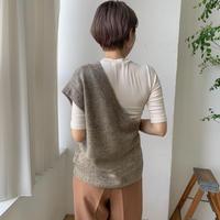 《予約販売》melange one shoulder knit/2colors_nt0576