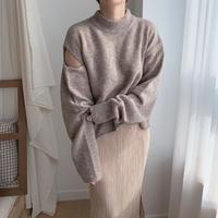 cut out unique knit/2colors_nt0147