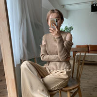 《予約販売》cut out lib knit/2colors_nt0604