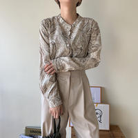 《予約販売》marble no collar blouse/2colors_nt0344