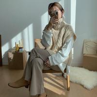 ✳︎予約販売✳︎square knit vest/2colors_nt0238