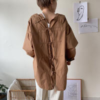 《予約販売》back open shirt/2 colors_nt0388