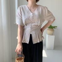 ✳︎予約販売✳︎tuck linen BL/2colors
