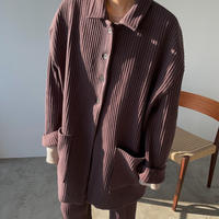 【nokcha original】over lib jacket/deep purple_no0151
