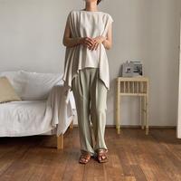 《予約販売》2way unbalance linen blouse/2colors_nt0483