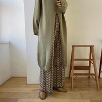 《予約販売》center slit long knit/2colors_nt0797