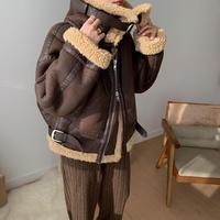 ✳︎予約販売✳︎buckle fake mouton jacket_no0061