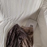 《予約販売》velvet pleats pants/2colors_np0277