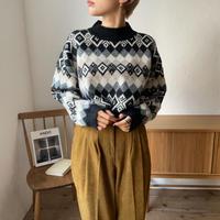 《予約販売》vintage dia pattern knit_nt0732