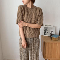 《予約販売》pattern half knit/2colors_nt0552