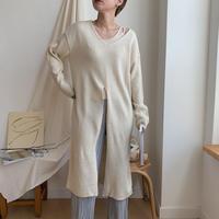 deep slit long knit/2colors_nt0332