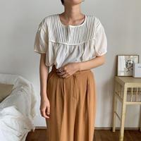 《予約販売》pleats flare blouse/2color_nt0520