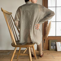 《予約販売》sheer back open shirt/2colors_nt0493