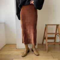 《予約販売》velvet daily long skirt/2colors_ns0054