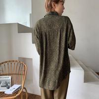 《予約販売》mosaic pattern 2way toromi shirt/2color_nt0523