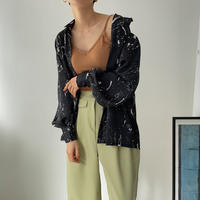 《予約販売》painting silky blouse/2colors_nt0839