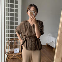 《予約販売》waist marc lady blouse/2colors_nt0470