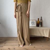 《予約販売》linen wrap pants/2colors_np0193