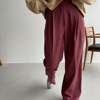 《予約販売》two tuck coloring pants/2colors_np0482