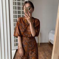 《予約販売》unique pattern toromi blouse_nt0481