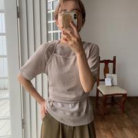 《予約販売》2set mesh knit pullover/2color_nt0526