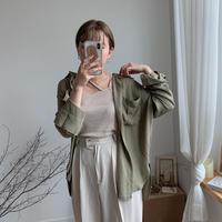 ✳︎予約販売✳︎pocket shirt/2colors_nt0057